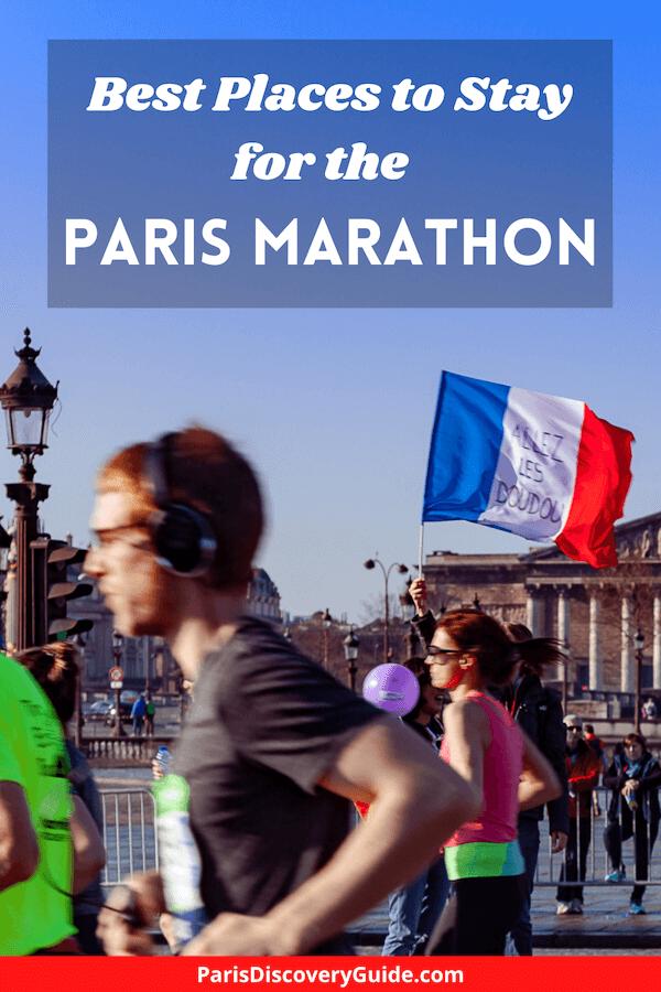Paris Marathon runners passing the Assemblee Nationale