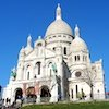 Sacre Coeur in the Montmartre neighborhood in Paris