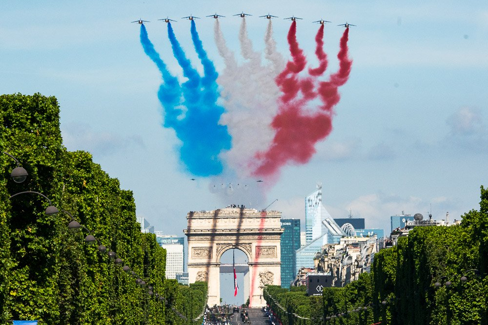Bastille Day military flyover