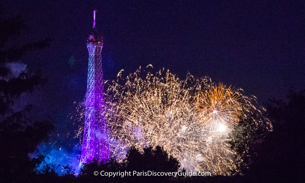 Bastille Day fireworks in Paris