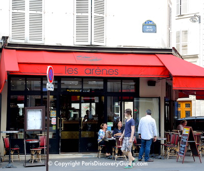 Paris - Les Arenes Cafe in the Latin Quarter