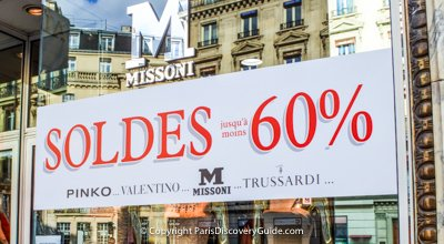 Winter sales in Paris - where to find them