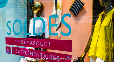Summer sales in Paris - where to find them