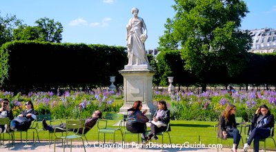 Tuileries Garden in Paris in May