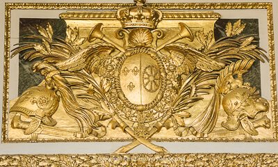 Ornamentation detail in Palace of Versailles, King's apartment