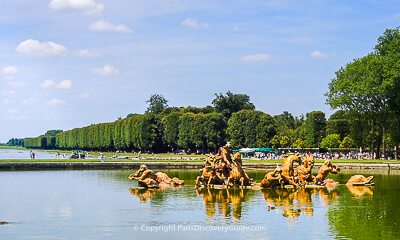 Apollo Fountain and Grand Canal at Versailles, attractions seen during a guided tour of the Palace gardens