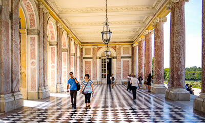 Grand Trianon at Palace of Versailles, on of the stops on a guided tour