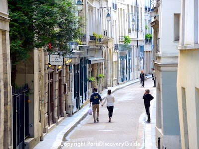 Quiet street in the Latin Quarter in Paris