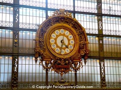 Ornate clock in Musee d'Orsay in Paris