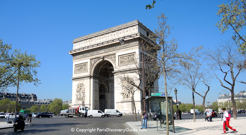 Arc de Triomphe on a sunny Paris afternoon