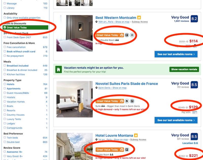 Best deals on Paris hotels