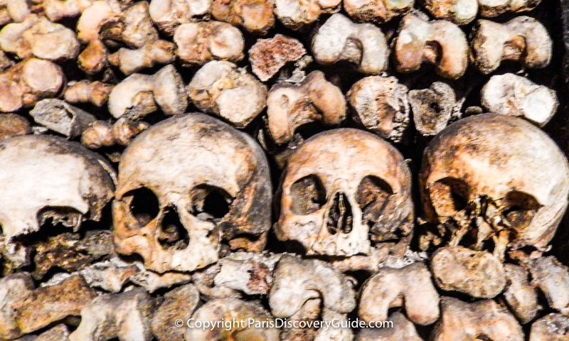 Skulls and bones in the Catacombs