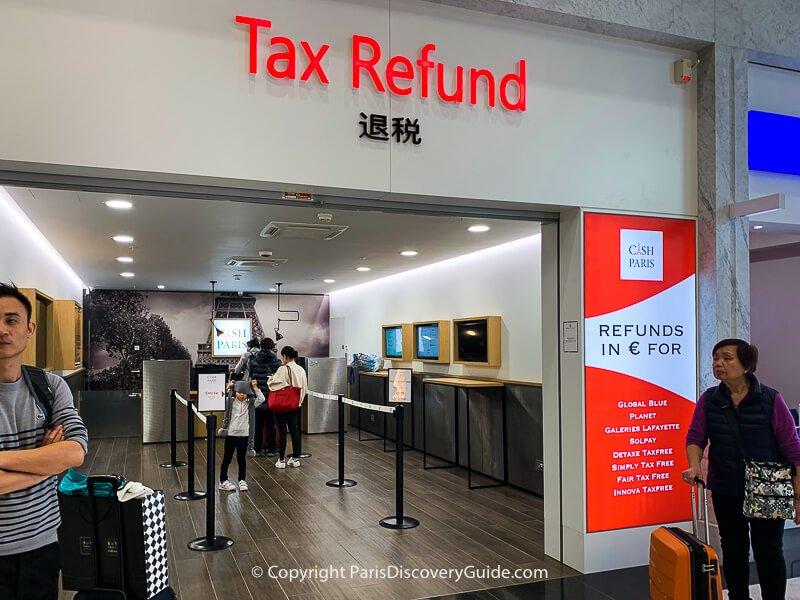 Tax refund service in Charles de Gaulle Airport in Paris