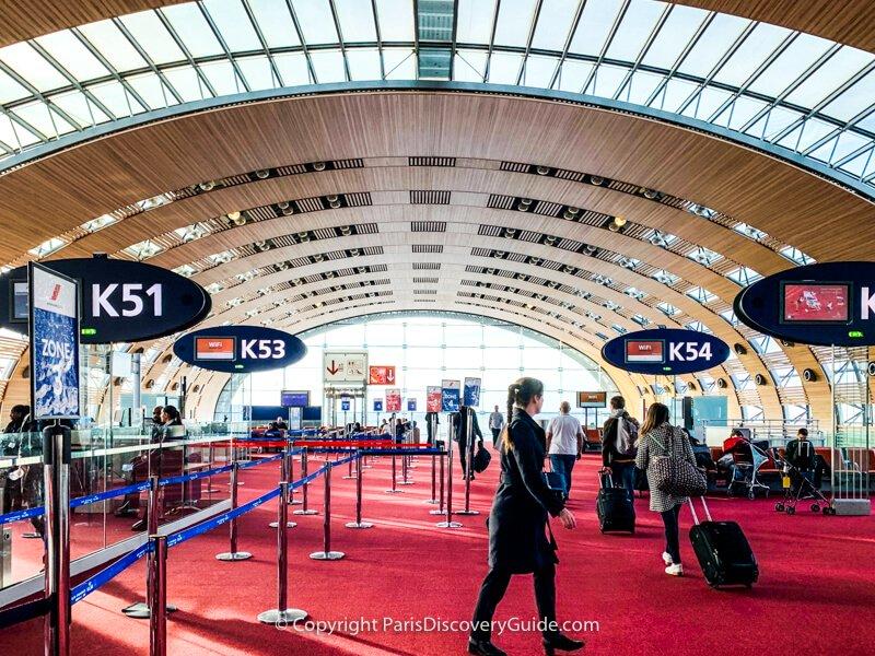Charles de Gaulle Airport near Paris
