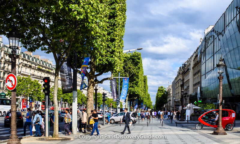 Champs Elysees on a June afternoon