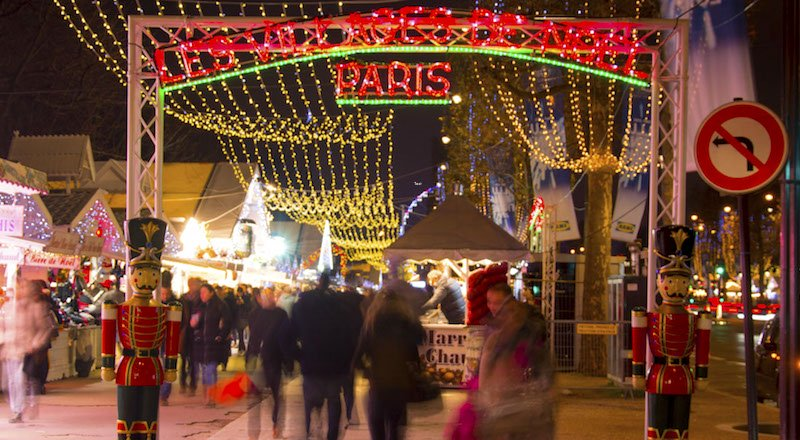 Paris Christmas Markets along Champs Elysees