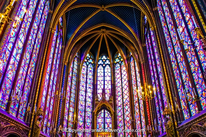 Breath-taking stained glass at Sainte-Chapelle