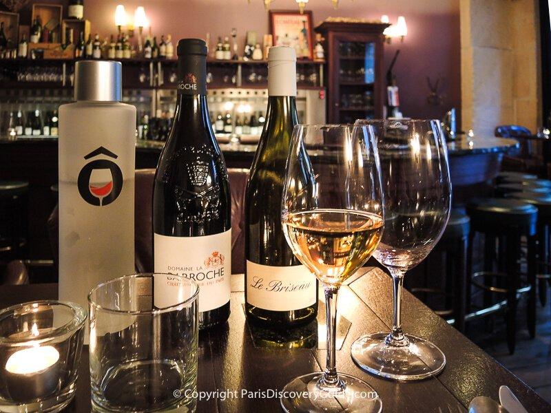 Enjoying a tasting in a popular Paris wine bar