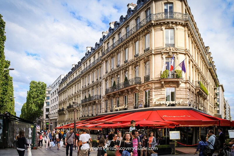 Fouquet's Brasserie and Hotel on Champs Elysees