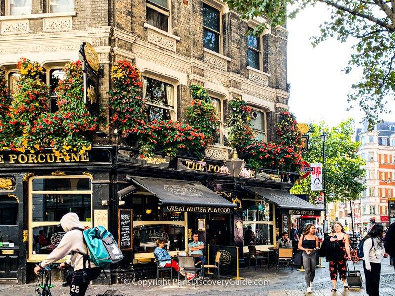 Porcupine, a London pub near Leicester Square Station