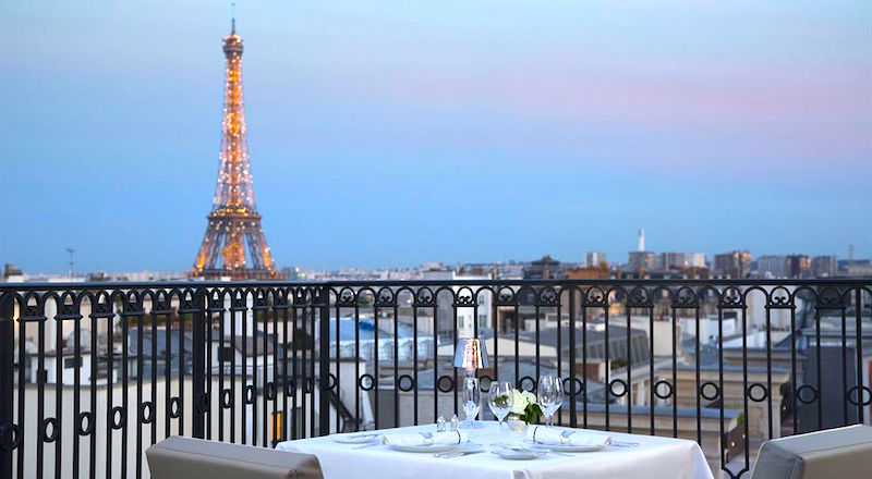 Eiffel Tower View from the Peninsula Hotel