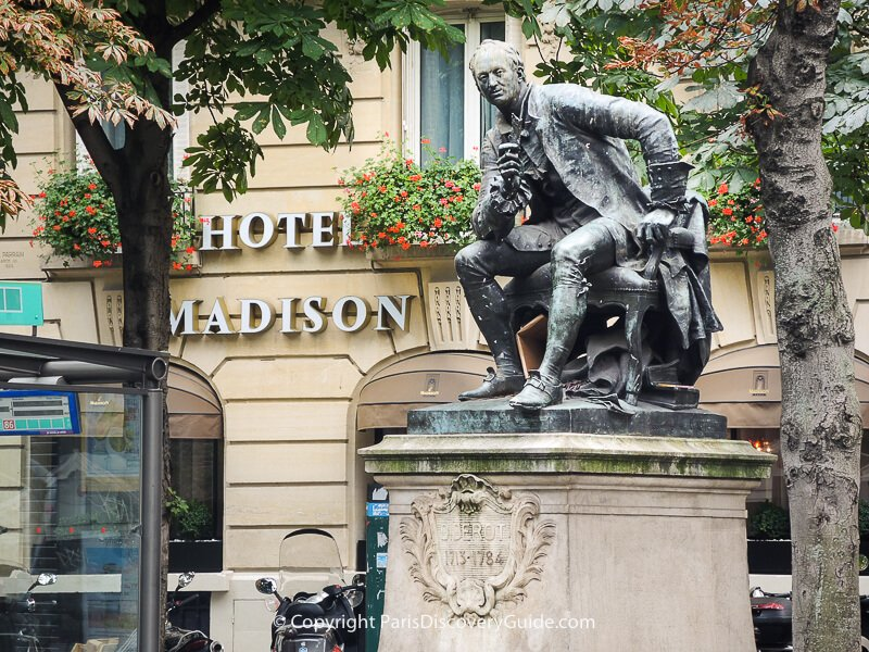 Hotel Madison, directly across the plaza from Saint-Germain-des-Prés