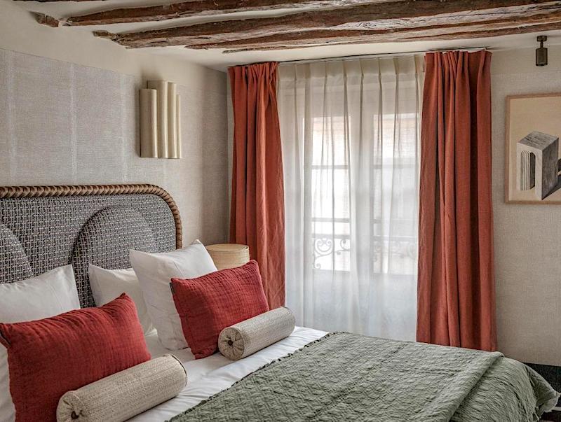 Guest room at Hotel Sookie in Paris's HautMarais neighborhood