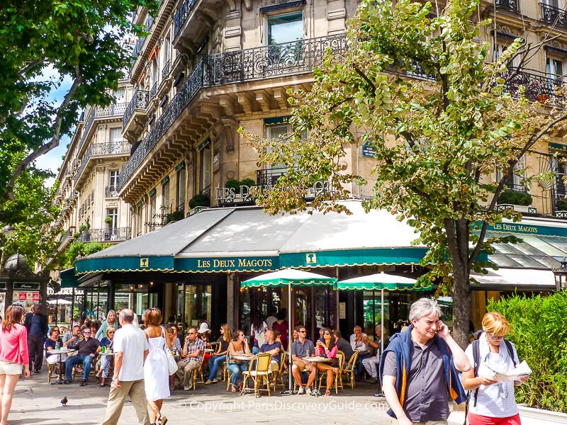 Les Deux Magots, across the plaza from Eglise Saint-Germain-des-Prés