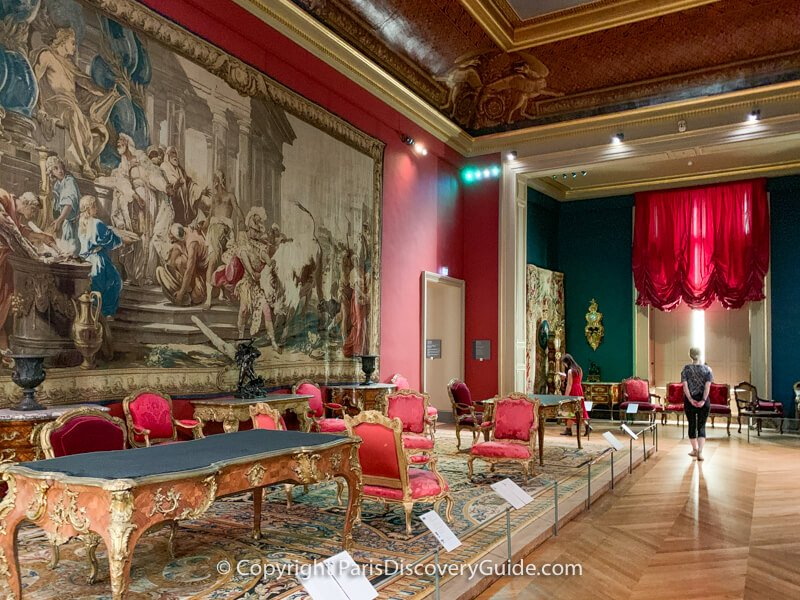 Louis XIV room in the Louvre
