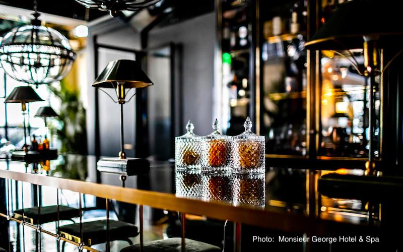 Bar at Monsieur George Hotel & Spa near Champs-Elyséesand the Arc de Triomphe