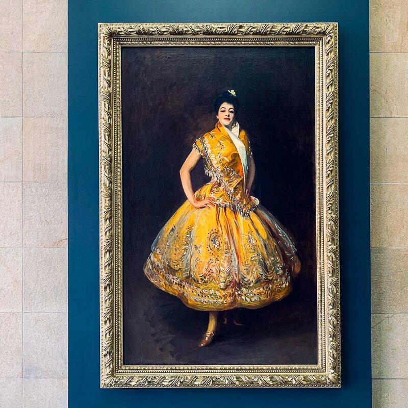 La Carmencita by expatriot American artist John Singer Sargent, painted in 1890