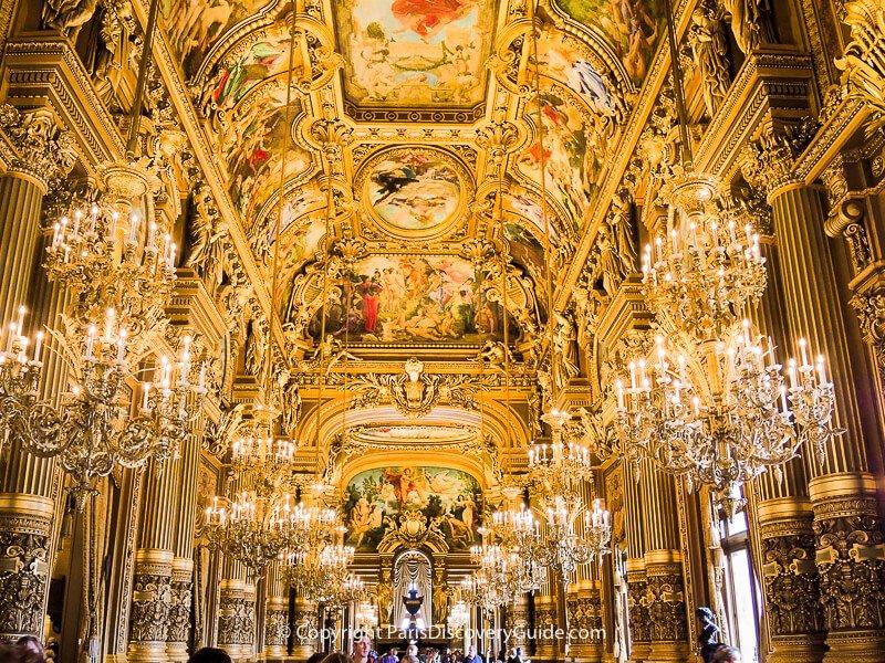 The Grand Hall at Palais Garnier
