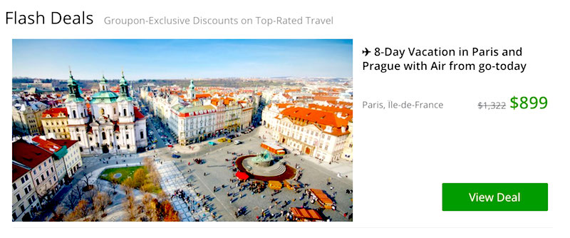 Paris hotel bargains from Groupon