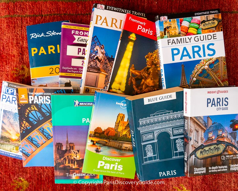 Essential Paris guidebooks for comprehensive city and travel information