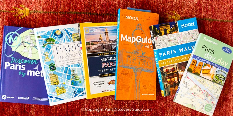 Paris travel guides with walking tours and information about getting around the city