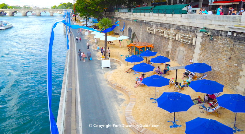 Paris beaches along the Seine River - one of the top Paris events in August