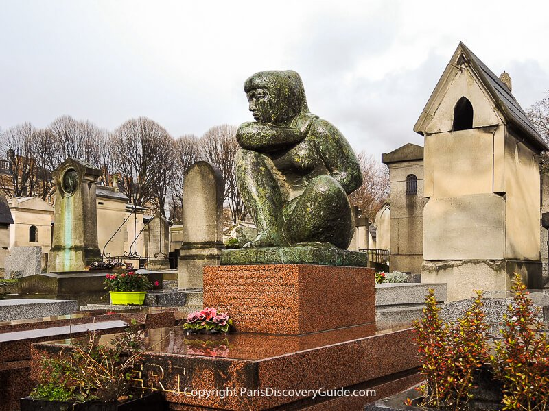 Tomb of Luxien Gibert at Pere Lachaise Cemetery