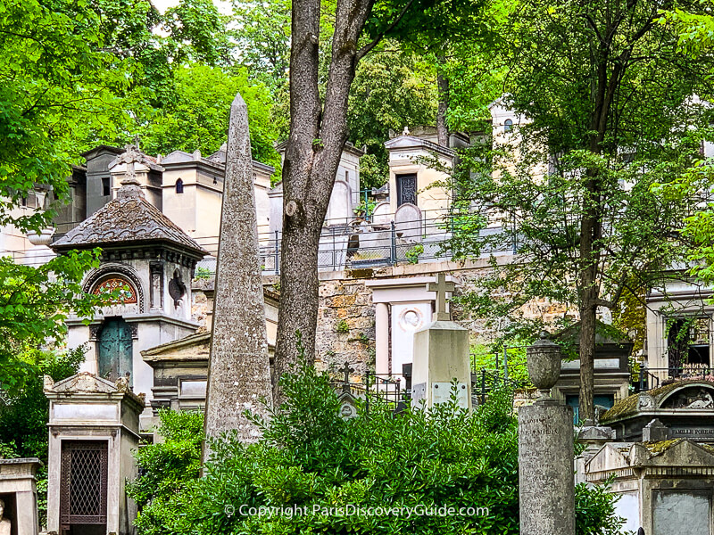 Pere Lachaise Cemetery in May