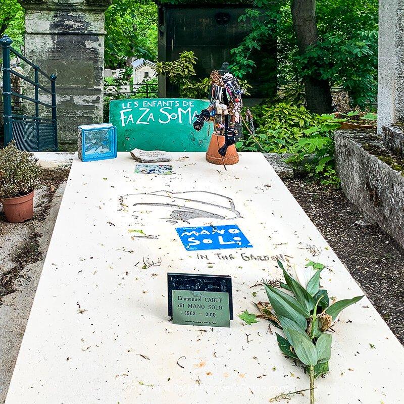 Tomb of Mano SoloinPere Lachaise Cemetery in Paris