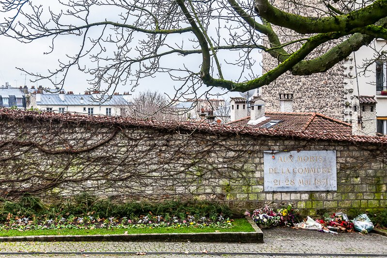 The Communards Wall at Pere Lachaise Cemetery - Photo credit: istockphoto.com/BalkansCat