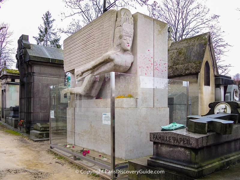 Oscar Wilde's tomb at Pere Lachaise Cemetery
