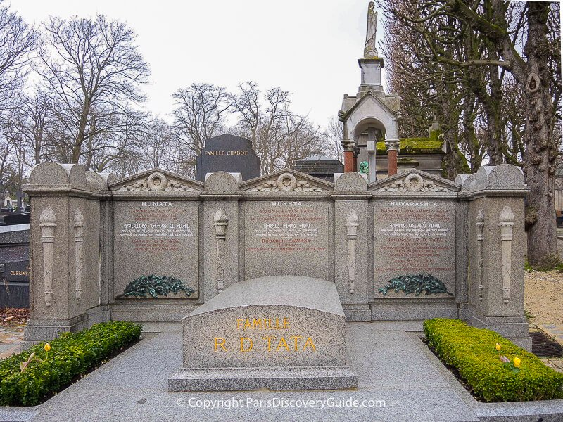 R. D. Tata family tomb at Pere Lachaise