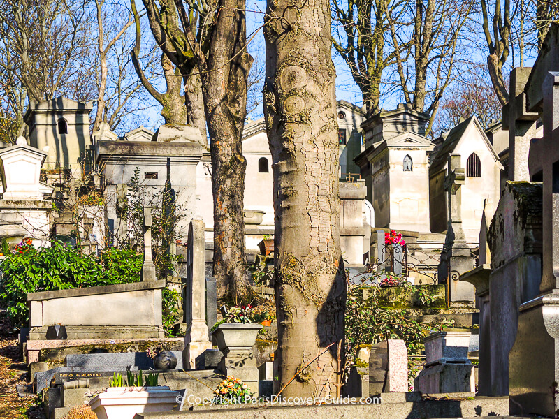 Pere Lachaise Cemetery in February