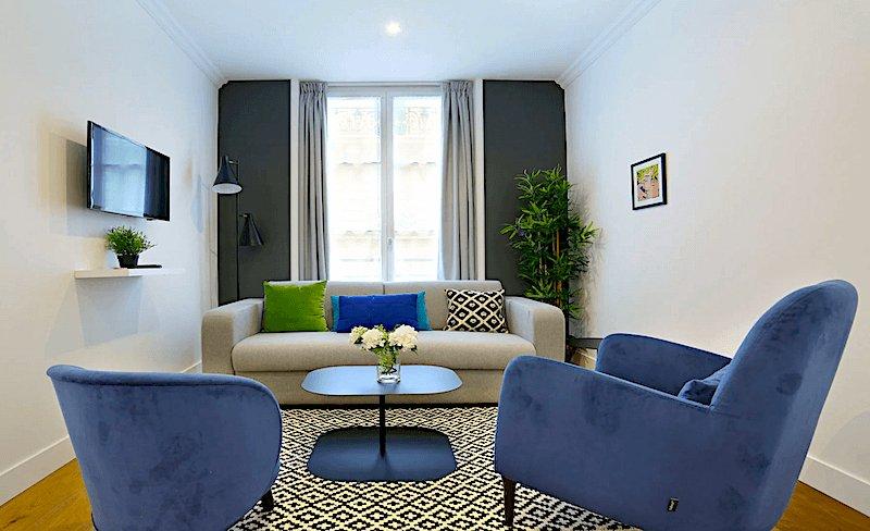 Blue Lagoon apartment in Paris's SoPi neighborhood