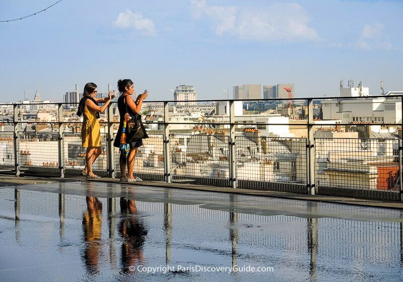 Rooftop views from Centre Pompidou rooftop terrace