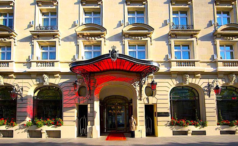 Front entrance of Le Royal Monceau Hotel