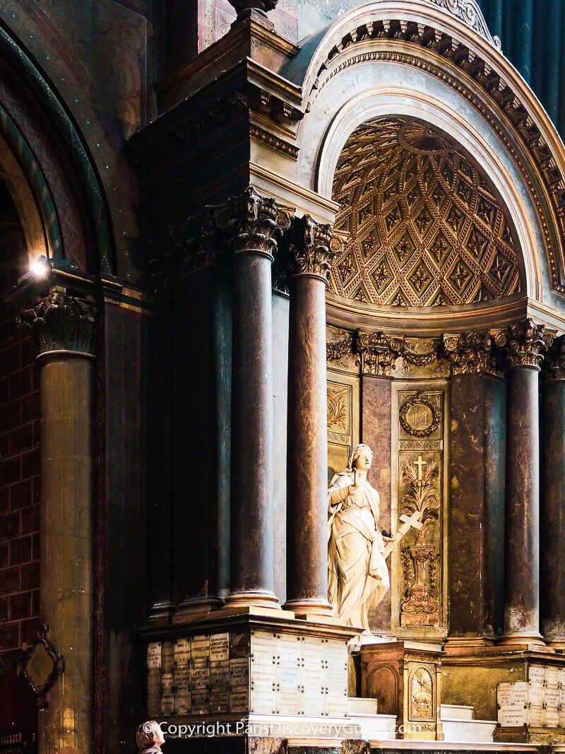 Sculpture by Francois Girardon at Chapelle Sainte-Marguerite in Eglise Saint-Germain-des-Prés