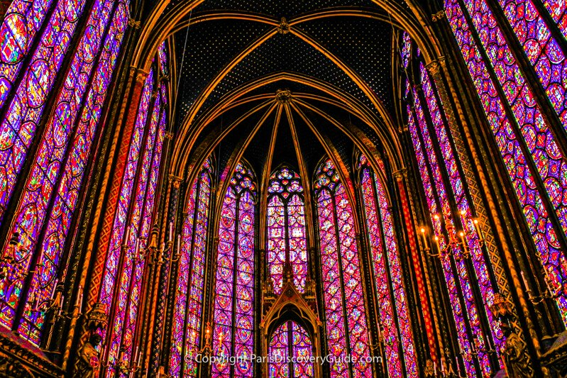 Medieval stained glass windows in Sainte Chapelle