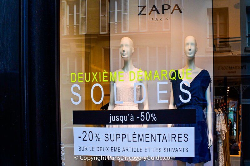 Paris sales: Second markdown at Zapa, with up to 50% savings, plus another 20% off of additional items
