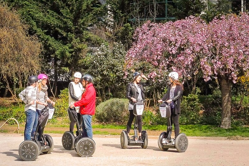 Segway tour: fun way to get to best places to visit in Paris in April